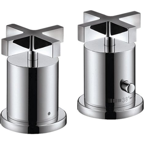 Hansgrohe Axor Citterio 2-hole bath rim thermostat with cross handles, colour: chrome - 39480000