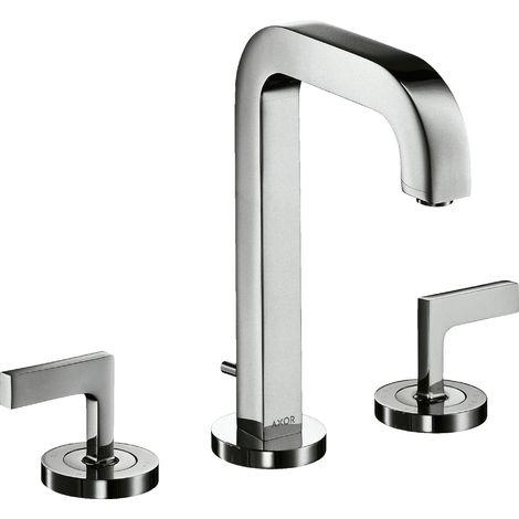 Hansgrohe AXOR Citterio 3-hole basin mixer 170, pop-up waste, spout 140mm, lever handles, rosettes, colour: chrome - 39135000