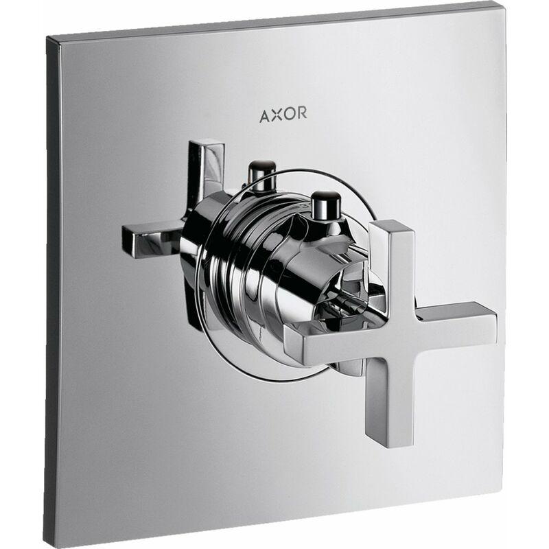 Hansgrohe Axor Citterio Thermostat 59 l/min Maniglia a croce, montaggio ad alta portata, impugnatura a cr