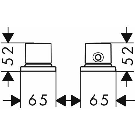 Hansgrohe Axor Massaud 2-hole bath rim thermostat DN15 - 18480000