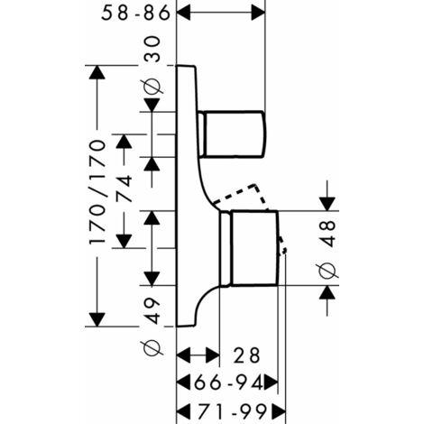 Hansgrohe Axor Massaud Single lever bath mixer flush-mounted - 18455000