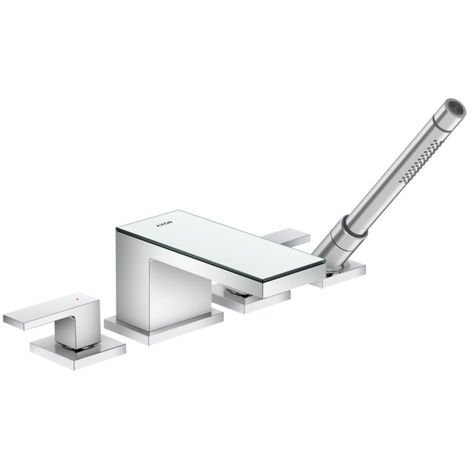 Hansgrohe AXOR MyEdition 4-hole bath tub edge fitting, colour: chrome / mirror glass - 47430000