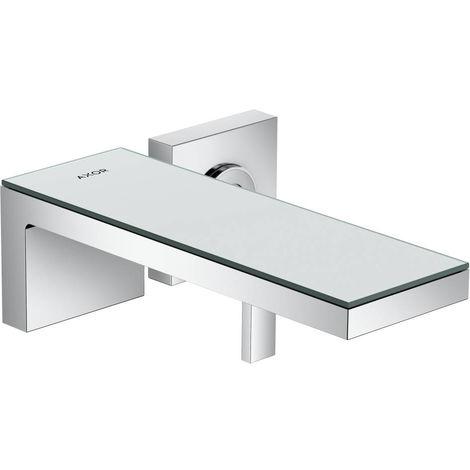 Hansgrohe AXOR MyEdition Mezclador monomando de lavabo empotrado para montaje en pared, caño 221 mm, color: cristal cromado / espejo - 47060000