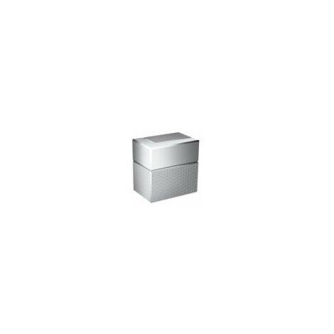 hansgrohe AXOR Robinet d'arrêt de bord encastré, taillé en diamant, Coloris: chrome - 46771000