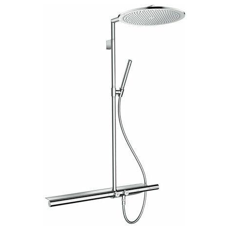 Hansgrohe AXOR ShowerSolutions Tuyau de douche avec thermostat 800 et douche de tête 350 1 jet, Coloris: chrome - 27984000