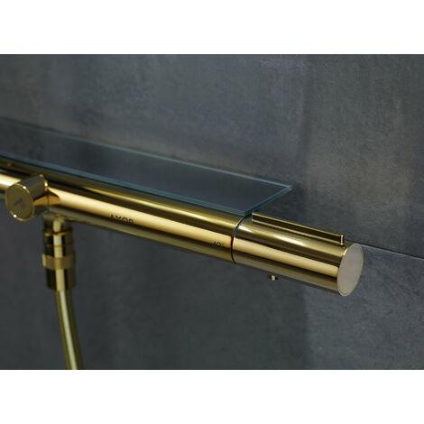 Hansgrohe AXOR ShowerSolutions Tuyau de douche avec thermostat 800 et douche de tête 350 1 jet, Coloris: laiton poli - 27984930