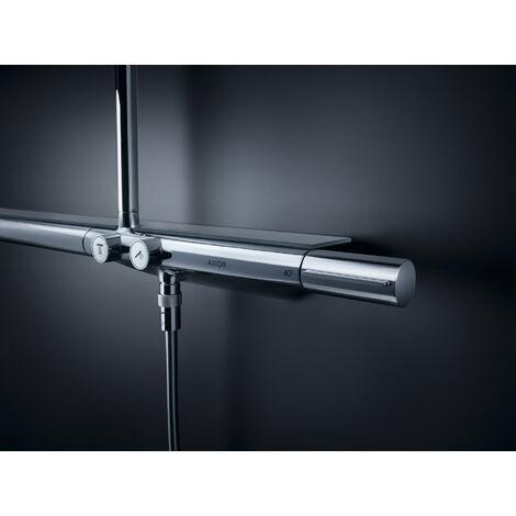 Hansgrohe AXOR ShowerSolutions Tuyau de douche avec thermostat 800 et douche de tête 350 1 jet, Coloris: Nickel brossé - 27984820
