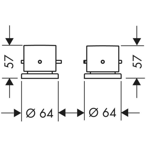 Hansgrohe Axor Starck 2-hole bath rim thermostat DN15, colour: chrome - 10480000