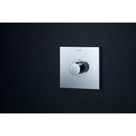 Hansgrohe Axor Starck ShowerSelect Termostato cuadrado de alto caudal empotrado, color: cromado - 36718000