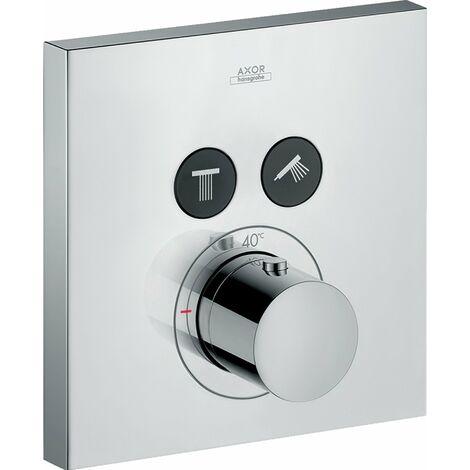 Hansgrohe Axor Starck ShowerSelect Termostato cuadrado empotrado para 2 consumidores, color: cromado - 36715000