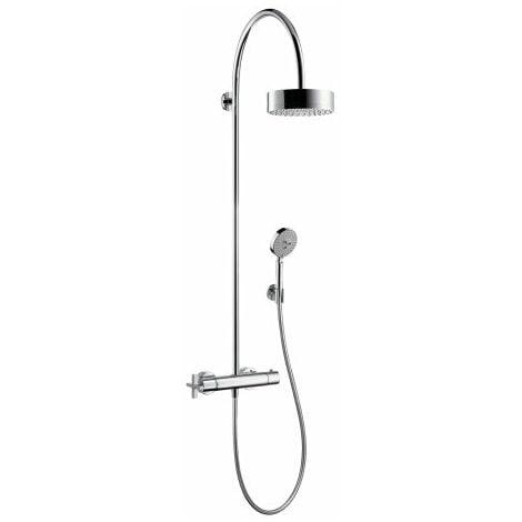 Hansgrohe Axor Starck ShowerSolutions Tuyau de douche avec thermostat et pomme de douche 180 1 jet, Coloris: chrome - 39670000
