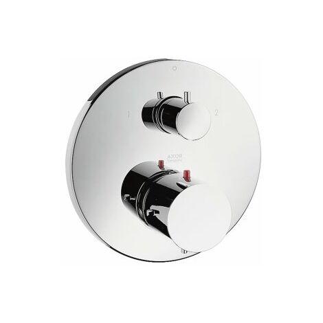 Hansgrohe Axor Starck thermostat encastré avec vanne d'arrêt et vanne de commutation, Coloris: chrome - 10720000