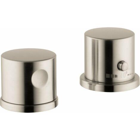 Hansgrohe AXOR Uno 2 orificios para bañera, termostato, 2 consumidores, color: Níquel Cepillado - 38480820