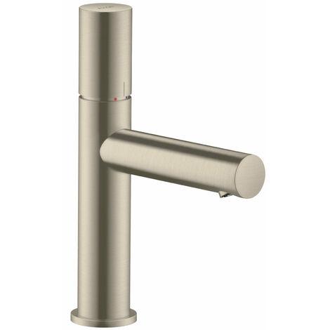 Hansgrohe AXOR Uno mitigeur monocommande de lavabo 110, Zerogriff, sans garniture de vidage, saillie 123mm, Coloris: Nickel brossé - 45002820