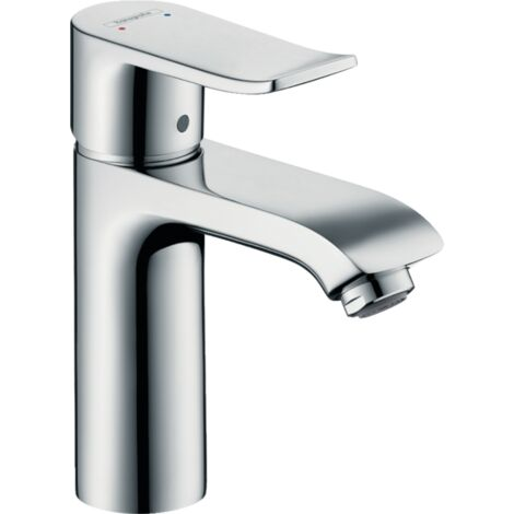 Hansgrohe Basin Mixer Tap Metris Single Lever 110 with Pop-Up Waste