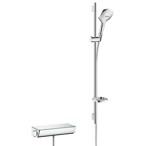 Hansgrohe Brausenkombi Raindance Select E 120/ Thermit Brause Aufputz Ecostat Sel.U'900mm chrom, 27039000