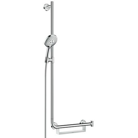 Hansgrohe Brausenset Raindance Select S 120 Unica Comfort 1100mm L weiß/chrom, 26324400