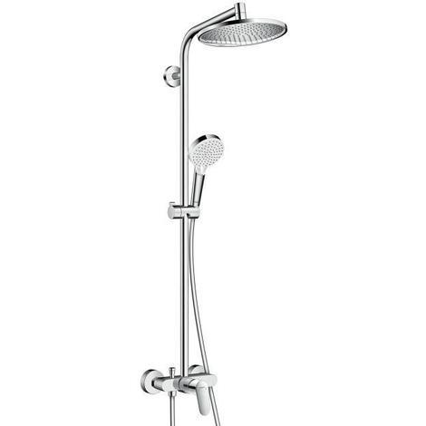 HANSGROHE Colonne de douche avec robinet mitigeur mécanique Showerpipe Crometta S 240