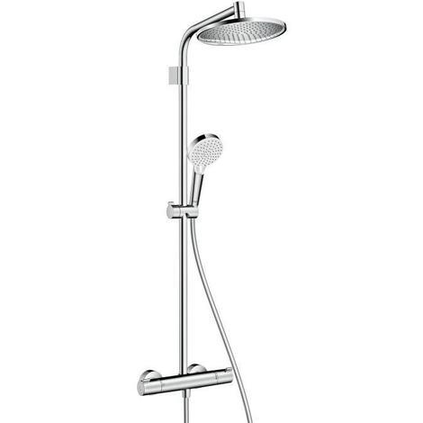 HANSGROHE Colonne de douche avec robinet mitigeur thermostatique Showerpipe Crometta S 240 Varia