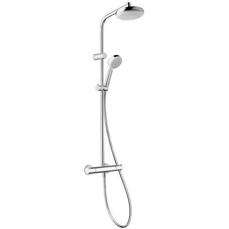 HANSGROHE Colonne de douche avec robinet mitigeur thermostatique Showerpipe MyClub 180 EcoSmart