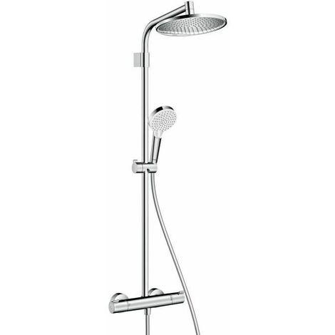 HANSGROHE Colonne de douche Showerpipe Crometta S 240 Varia - Avec mitigeur thermostatique