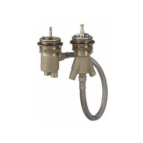 Hansgrohe Corps de base pour robinetterie de baignoire 2 trous avec thermostat - 13550180