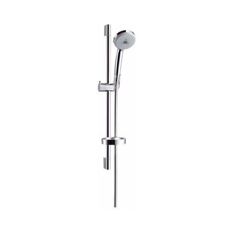 Hansgrohe Croma 100 Conjunto de ducha Multi con barra de ducha de 65 cm y jabonera, 27775000, cromado - 27775000