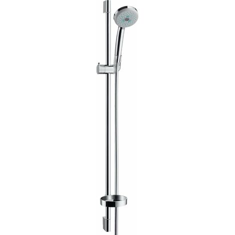 Hansgrohe Croma 100 Conjunto de ducha Multi con barra de ducha de 90 cm y jabonera, 27774000, cromado - 27774000