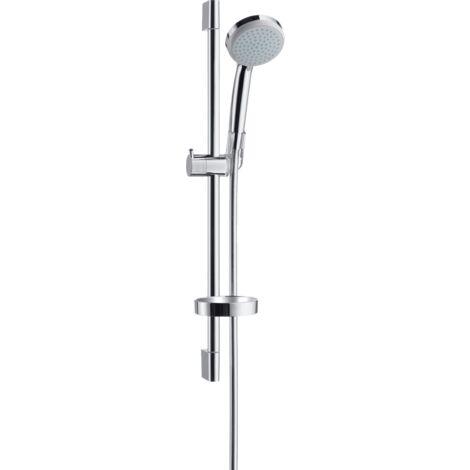 Hansgrohe Croma 100 Conjunto de ducha Vario con barra de ducha de 90 cm y jabonera, 27771000, cromado - 27771000
