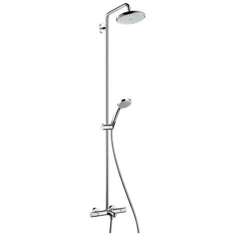 HANSGROHE Croma 220 Colonne de douche avec mitigeur de baignoire thermostatique