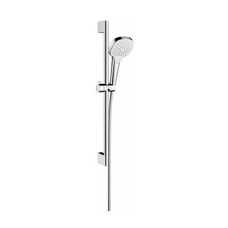 Hansgrohe Croma Select E set de ducha Vario con barra de ducha de 65 cm, 26582400, blanco/cromo - 26582400