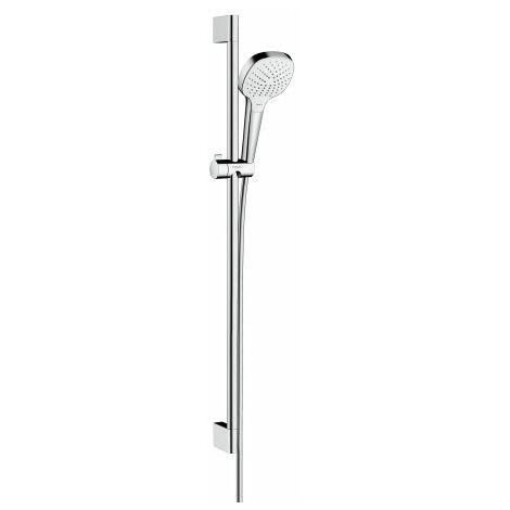Hansgrohe Croma Select E set de ducha Vario con barra de ducha de 90 cm, 26592400, blanco/cromo - 26592400