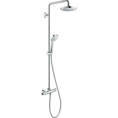 Hansgrohe Croma Select E Tubo de ducha 180 2jet EcoSmart con termostato, blanco/cromo - 27257400