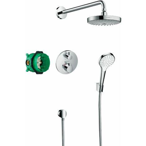 Hansgrohe Croma Select S, Pack encastré Design ShowerSet Croma Select S / Ecostat S, chromé (27295000)