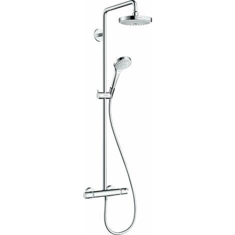 Hansgrohe Croma Select S Tuyau de douche 180 2jet EcoSmart avec thermostat, blanc/chrome - 27254400