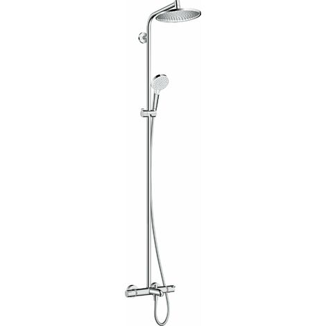 Hansgrohe Crometta S Tuyau de douche 240 1 jet avec thermostat de bain, chromé - 27320000