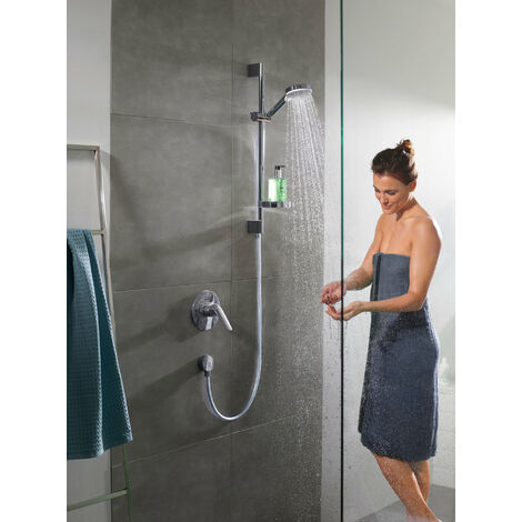 Hansgrohe Crometta shower set Vario with shower bar 65 cm and soap dish, 26553400, white/chrome - 26553400
