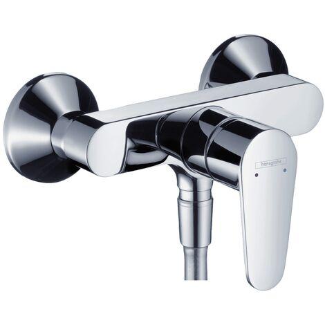 Hansgrohe Duscharmatur Talis Focus E2, 31662000 Einhandmischer für Brause mit Keramikmischsystem, Boltic Griffverriegelung, Rückflussverhinderer, Chrom, 09568 6