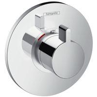 Hansgrohe Ecostat S Set de finition pour mitigeur thermostatique S encastré haut débit, chromé (15756000)