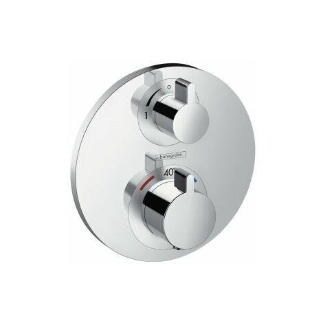 hansgrohe Shower Tablet Ecostat S Thermostat, Unterputz, 1 Verbraucher, chrom - 15757000