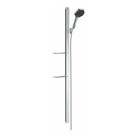 hansgrohe Ensemble de douche Rainfinity 130 3jets EcoSmart 9 l/min avec barre de douche 150 cm et porte-savon, chromé - 27674000