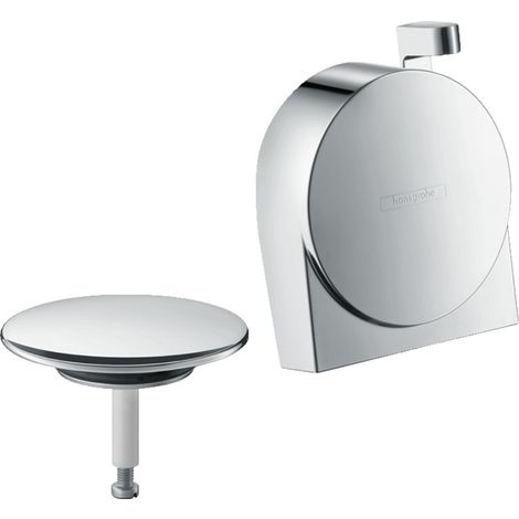 hansgrohe Exafill S juego completo de caño de baño, desagüe y rebosadero, color: cromado - 58117000