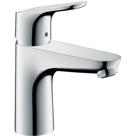 Hansgrohe Focus 100 Mitigeur de lavabo sans tirette ni vidage bas débit, chromé (31513000)