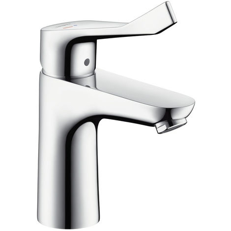 Hansgrohe Focus Care 100 CoolStart Washbasin Mixer with Extra Long Handle (31917000)