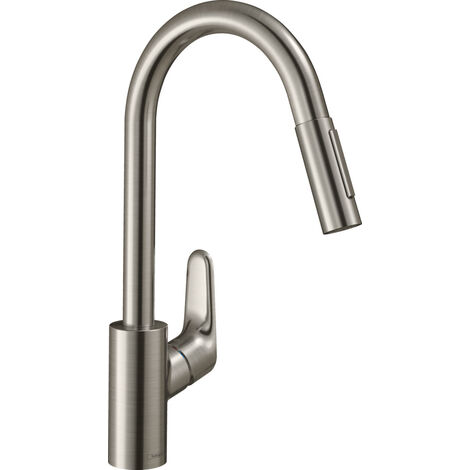 hansgrohe Focus M41 single-lever kitchen mixer 240, pull-out shower, 2jet