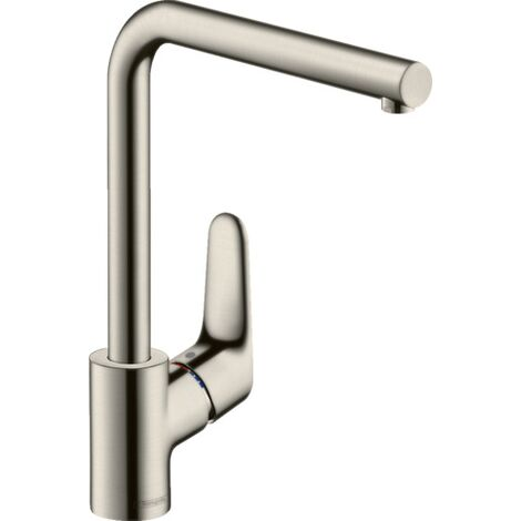 """main image of """"Hansgrohe Focus M42 deck mounted kitchen mixer tap 150 with pull out spray chrome"""""""