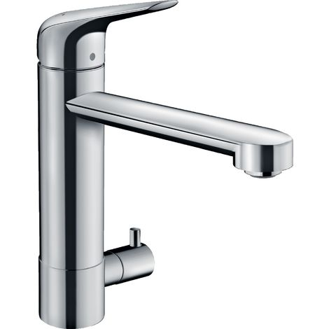 Hansgrohe Focus M42 single-lever kitchen mixer 180, appliance shut-off valve, 1jet, chrome - 71813000