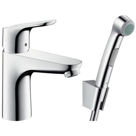 Ubrugte Hansgrohe Focus Single lever basin mixer 100 with bidette hand ZN-81