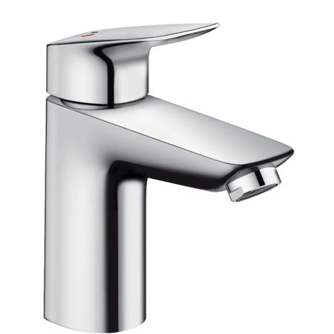 Hansgrohe Hangrohe Logis Single lever basin mixer 100 CoolStart with pop-up waste set, Chrome (71102000)