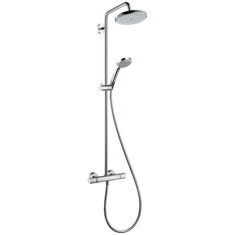 Hansgrohe Hans Grohe Croma 220 Showerpipe Duschsystem Thermostat AP 27185000
